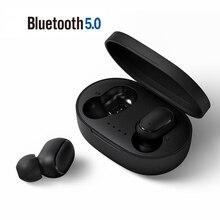 A6S TWS słuchawki douszne Bluetooth 5.0 słuchawki Stereo bezprzewodowy zestaw słuchawkowy wyświetlacz LED z mikrofonem słuchawki douszne dla Xiaomi Redmi Airdots