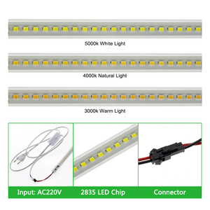 Image 3 - 6 قطعة مجموعة عمود إضاءة LED ضوء التيار المتناوب 220 فولت/110 فولت سطوع عالية 8 واط 72 المصابيح 50 سنتيمتر توفير الطاقة LED أنابيب الفلورسنت.