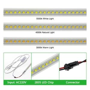 Image 3 - Ensemble de 6 pièces, Tubes LED fluorescents 220, haute luminosité, 8W, 72 110 s, 50cm, économie dénergie LED V/LED V