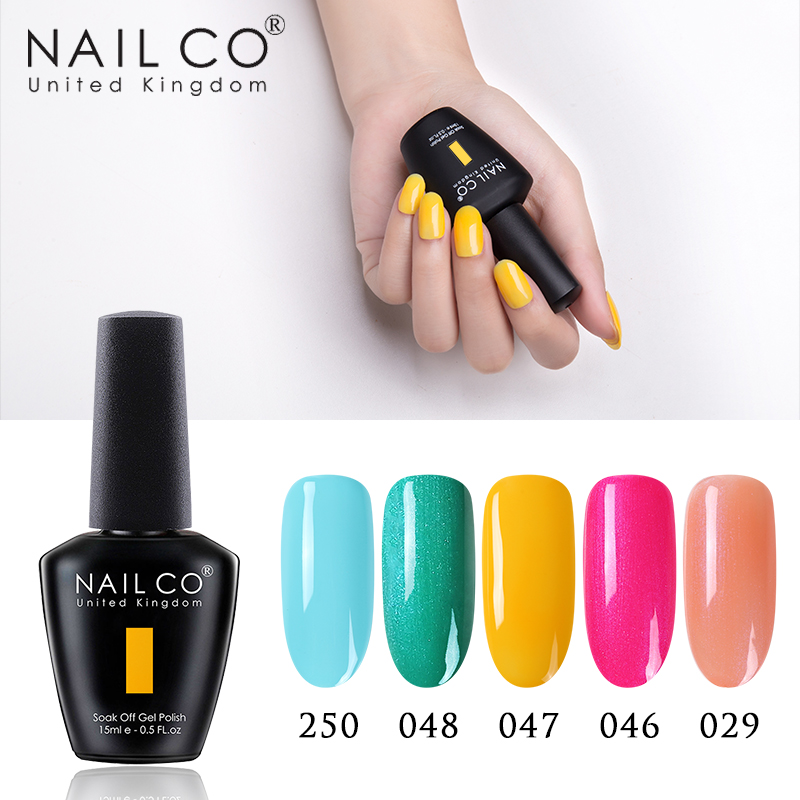 NAILCO Pure Macaron 47Colors UV Gel Nail Polish Hybrid Varnish Semi Permanant Lucky Lacquer Gelpolish Nails Art All For Manicure