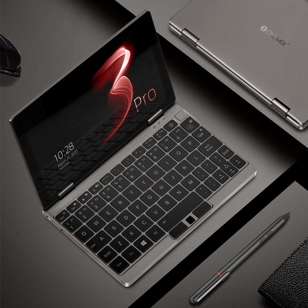 OneMix Mini Laptop 8.4 Inch Notebook Computer I7 16G RAM 512G PICe SSD IPS Touch Screen Gaming Laptop Windows 10 OS Ultrabook
