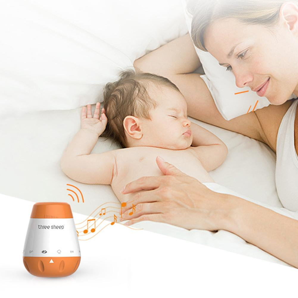 Portable USB Baby Voice Sensor White Noise Music Soothing Sleep Sound Machine The Sound Wilt Be Activated When Baby Crying And