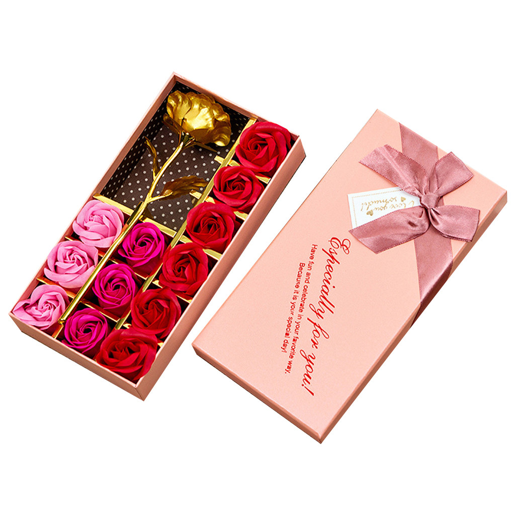 Чехол с цветком розы, мылом, 13 шт., смешанные цвета, свадебное украшение для женщин, для которых вы любили, красивая красная роза, уникальный п...