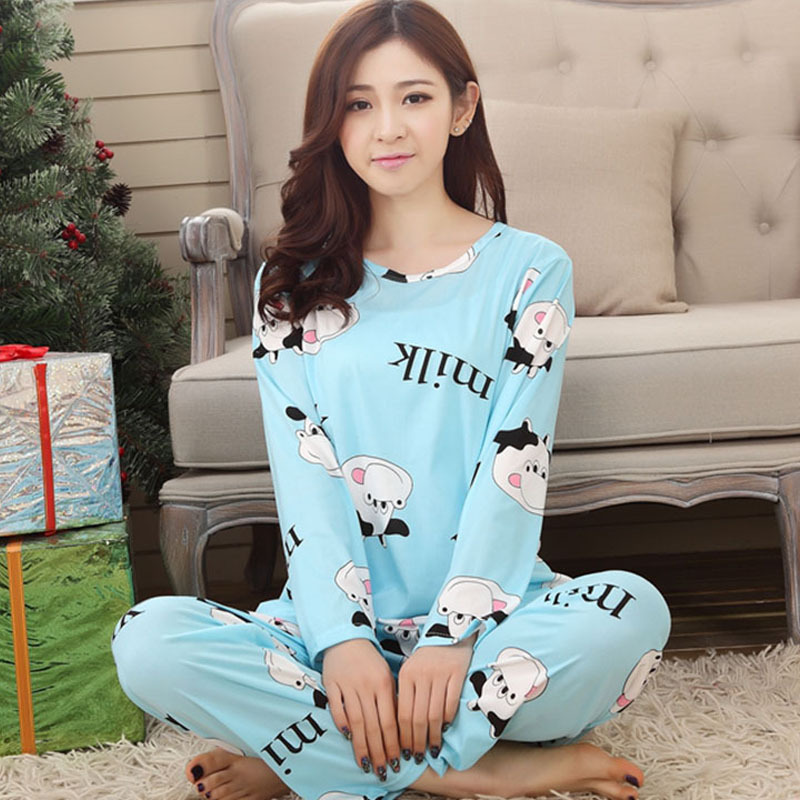 Wholesale Pajamas Sets Suit Female Homewears 2020 Fashion Women Sleepwears Spring Autumn Slim Cartoon Women Pajama Underwear
