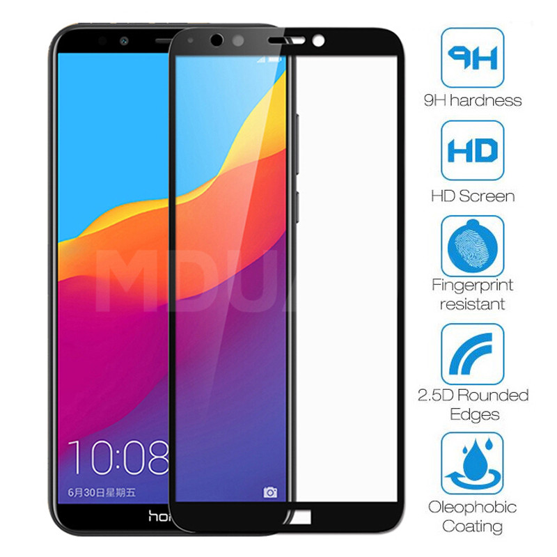 9D Protective Glass on the For Honor 7A 7C 7S 7X Tempered Screen Protector Glass Honor 8 Lite 9X 8X 8A 8C 8S Clear Glass Film(China)