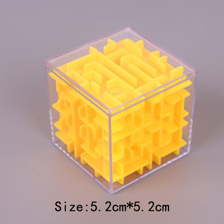 TOBEFU 3D Maze Magic Cube Transparent Six-sided Puzzle Speed Cube Rolling Ball Game Cubos Maze Toys for Children Educational 12