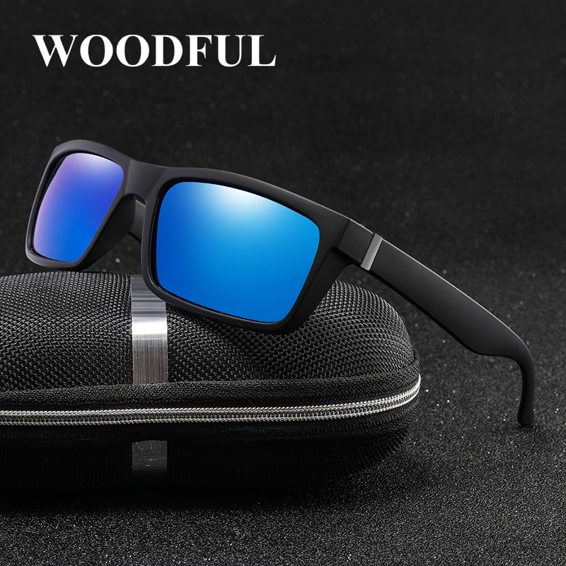 Woodful Classic Polarized Sunglasses Men Women Brand Design Driving Square Frame Sun Glasses Male Goggle UV400 Gafas De Sol