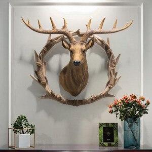 [HHT] настенный подвесной кулон с головой оленя в американском стиле, украшение для гостиной, ресторана, прихожей, прохода