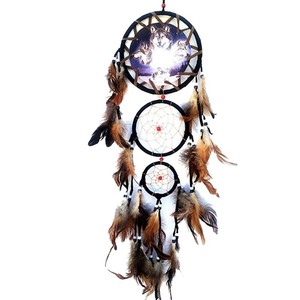 Indian Wolf Dream Catcher with