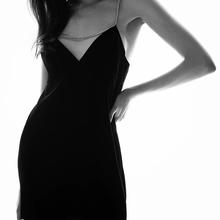 ZXQJ-Vestido corto Vintage con tirantes y diamantes de imitación para Mujer, minivestido Sexy con escote en V y cremallera en la espalda, 2021
