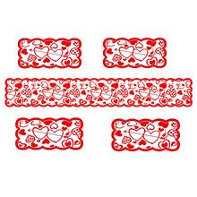 5 sztuk Cupid na stół z sercem i napisem Love Runner podkładka ślubne dekoracje stołu miękkie wygodne anty-deformacja anti-tear łatwe do czyszczenia cupid love tanie tanio Other Samoprzylepne CN (pochodzenie) Dekoracyjne about 33*183cm 12 99*72 05in about 30*45cm 11 81*17 72in 5pcs