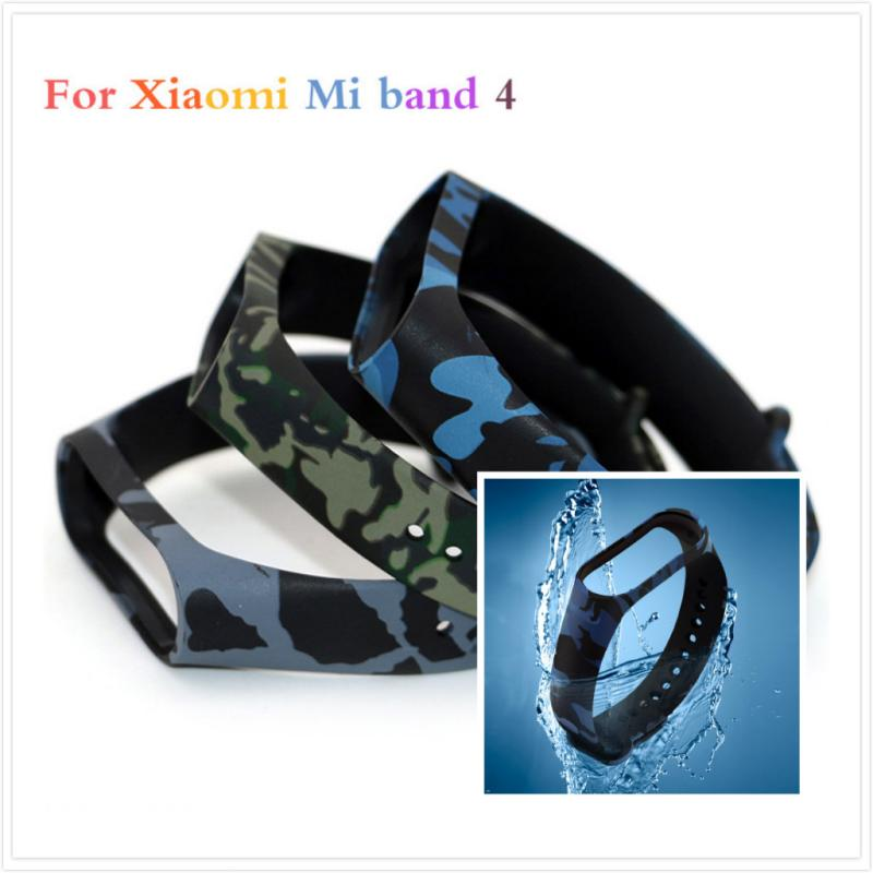 Camouflage For Mi Band 4 Strap Silicone Wristband Replacement Part Smart Watch Wrist Strap For Xiaomi Bracelet Smart Accessory