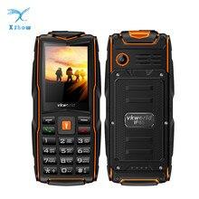 """Vkworld Đá Mới V3 3 Khe Gắn Sim Điện Thoại Di Động IP68 Đèn Pin Chống Nước 2.4 """"3000 MAh Pin 2MP GSM bàn Phím Tiếng Anh Điện Thoại"""
