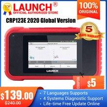 2020 yeni lansmanı X431 CRP123E OBD2 araba tarayıcı otomotiv tanılama aracı 4 sistem CRP123 yükseltme PK Creader VII + CRP123x CRP123i