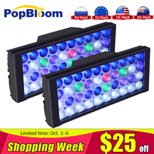 Free shipping Programmable PopBloom marine aquarium led lighting full spectrum reef 200W coral fish tank led acuario marino lamp cree xpe plant growth lamp customize color 12x3w cree xpe led par38 coral reef grow lamp fish tank aquarium lamp free shipping