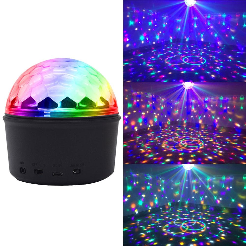 Strobe Home Mini Rotating Bluetooth Speaker DJ Stage KTV Christmas LED Disco Ball Light USB Charging Party Effect Wedding
