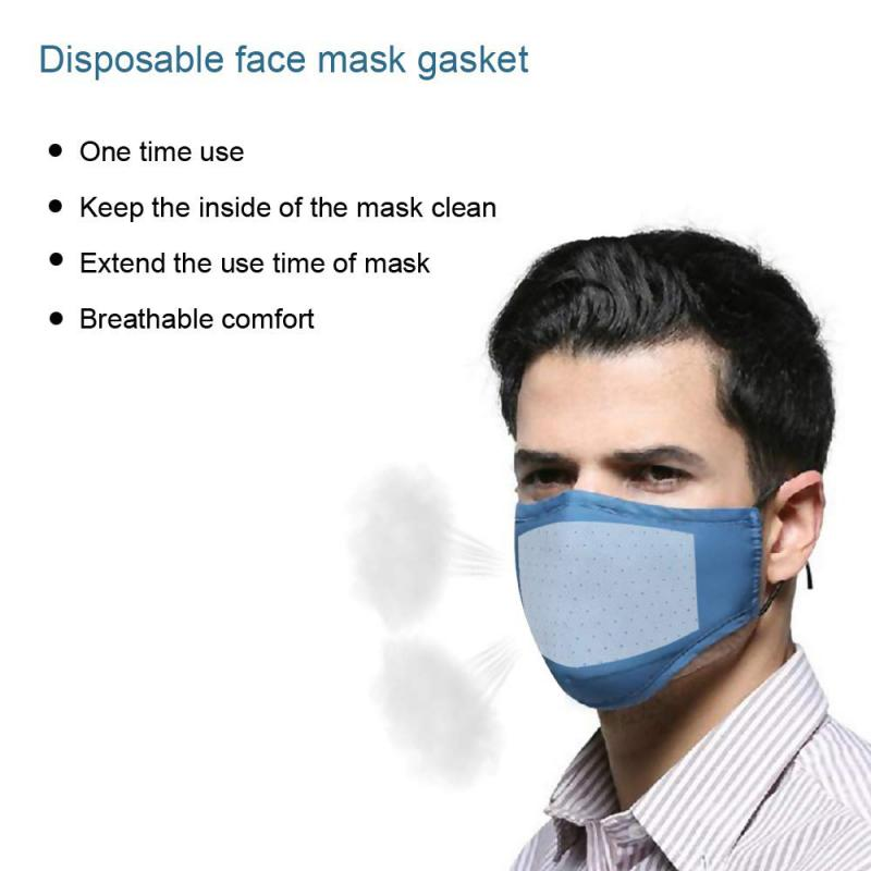 100pc Non-woven Mask Filter Disposable Face Mask Replacement Filtering Pad Breathable Safety Protective PM2.5 Mask Gasket Filter