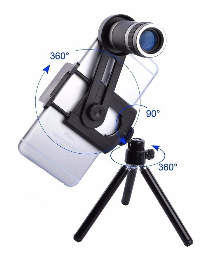 Kit Phone Camera 8X Lens Zoom Telephoto Lenses Telescope With Clip Mobile Tripod Phone Holder For Cell Phone R20|Mobile Phone Lens| |  - title=