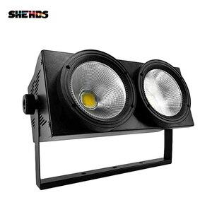 Image 2 - 2 augen 200w LED Cool, warm Weiß COB DMX512 licht Bühne beleuchtung Led Für Bar KTV Hochzeit DJ Disco Effekt Licht SHEHDS