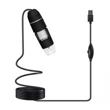 8LED ABS Hand Held Endoscope Mobile Phones Computers Portable Durable Practical Digital Microscope Monitoring Black