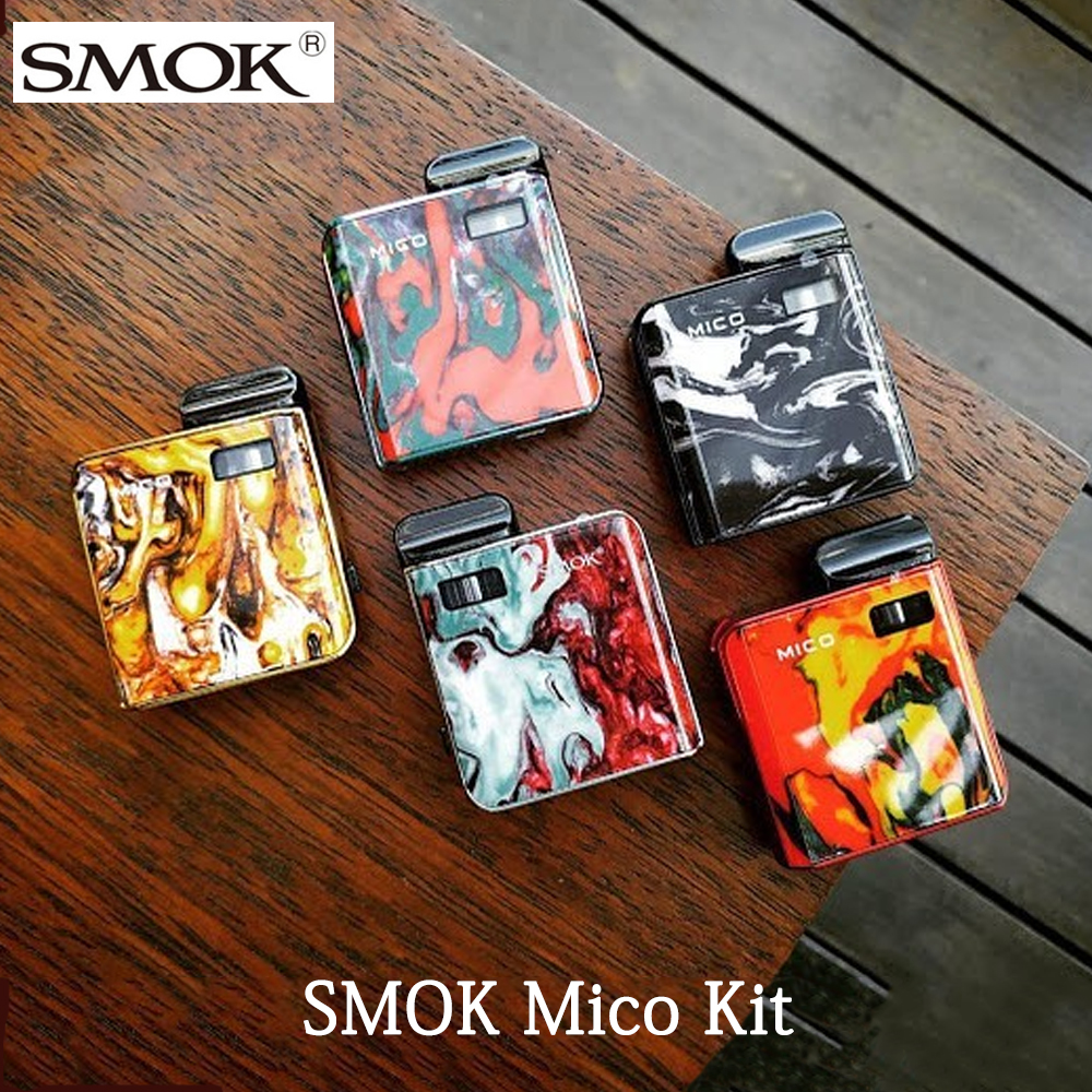Original Electronic Cigarette SMOK Mico Kit With 700mAh Battery Pod Mod MTL Vaping Vape 1.7ml Vape Pod Somk Mico Pod Vape Kit