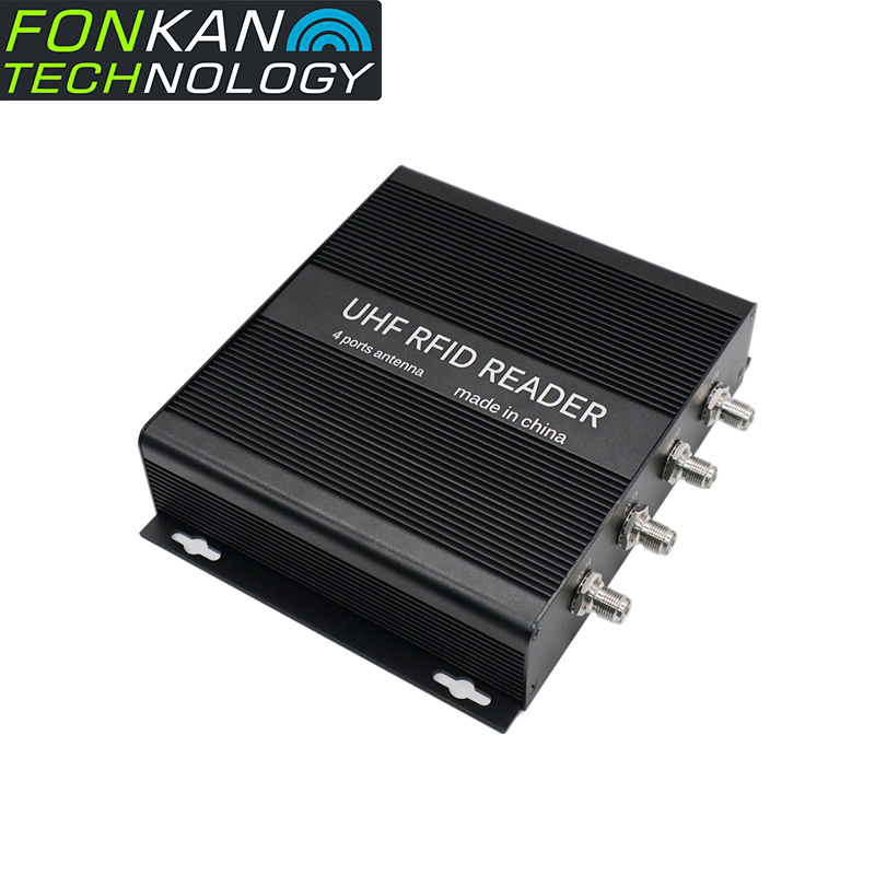 FONKAN POE 865-928MHz UHF RFID Fixed Reader R2000 Long Range UHF RFID 4 Antenna Port Fixed Reader For Industrial Application