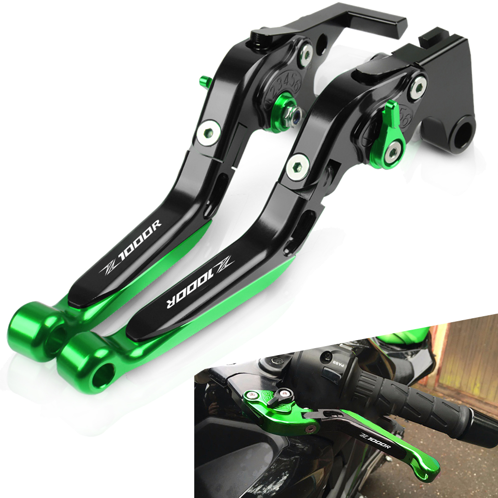 For Kawasaki Z1000R <font><b>Z1000</b></font> R 2017 <font><b>2018</b></font> 2019 Motorcycle Accessories Extendable Adjustable Foldable Handle Levers Brake Clutch image