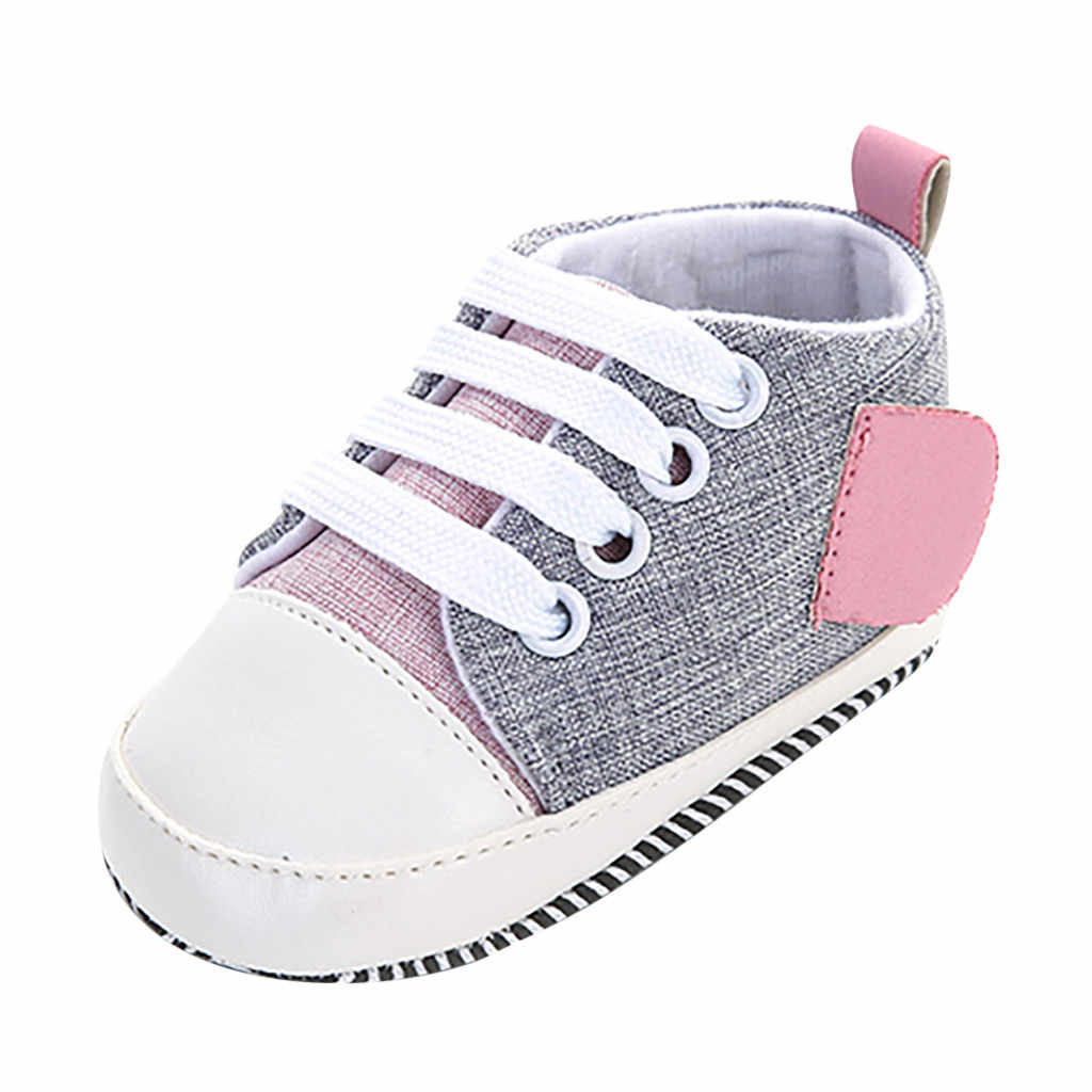 lovely and charming Newborn Baby Girls Boy Splicing Bandage Soft Sole Casual Shoes Single ShoesSoft Bottom Casual Shoes
