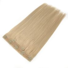 Kayla PU Seamless Clip In Hair Extensions 80g-120g Invisible Hidden Clip Ins 100% Human Hair
