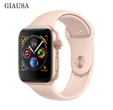 NEW 44mm size 1:1 Smart Watch IWO 8 plus Alloy matte case similar series 4 Heart Rate Smartwatch SIRI For iOS Android PK IWO 5 6 цена