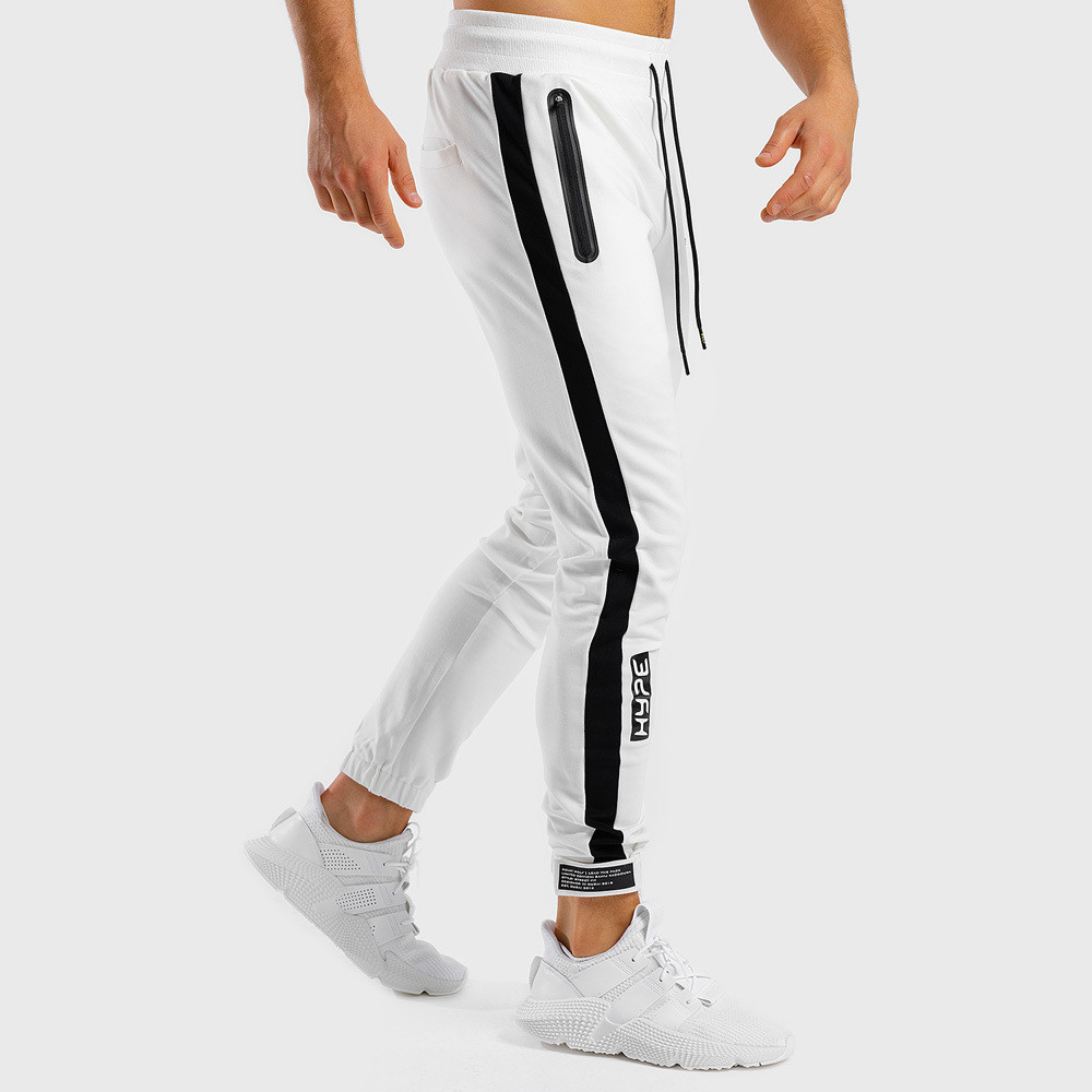 White Jogger Sweatpants Men Casual Skinny Cotton Pants Gym Fitness Workout Trousers Male Spring Sportswear Track Pants Bottoms