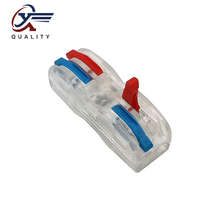 30/50/100PCS PCT-222 Electrical Wiring Terminal Household Wire Connectors Fast Terminals For Connection Of Wires Lamps SPL-2CT wago type 10pcs electrical wiring terminals household wire connectors fast terminals for connection of wires lamps and lanterns
