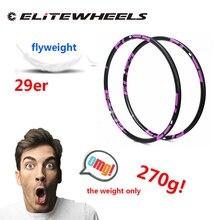 Комплект колес для горного велосипеда ELITEWHEELS 270g Only 29er, карбоновый обод 28 32 36H 27*23 мм для XC Cross Country 3k 12k Ud, матовый глянцевый