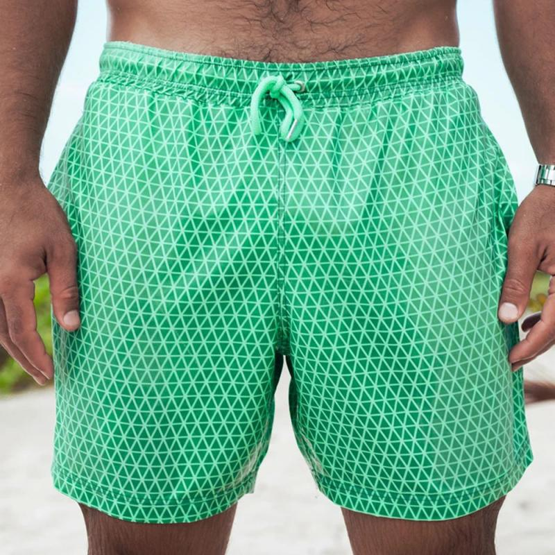 2020 Color Changing Beach Swim Trunks Swimwear Swimsuit That Men Swimming Warm Shorts for Men's Beach Swim Male Briefs New 9