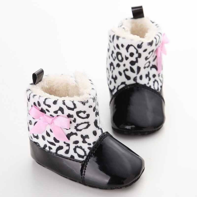 Baby Schoenen PU Gewatteerde Peuter Baby Jongens Meisjes Laarzen Zachte Pasgeboren Baby Schoenen Winter Warm