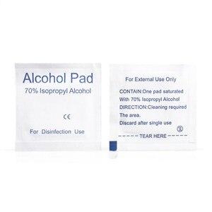 Image 3 - 100Pcs Alcohol Pad Nat Vegen Wegwerp Desinfectie Wattenstaafje Pad Antiseptische Huid Reinigen Zorg Outdoor Survival Apparatuur