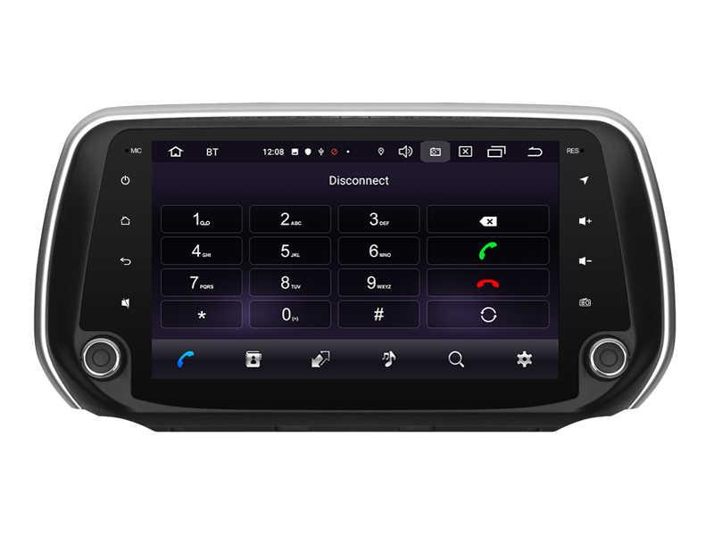 OTOJETA Android 9.0 2.5D ekran radio samochodowe dla Hyundai Santa Fe 2018 AUX USB BT multimedialne stereo nawigacja gps magnetofon