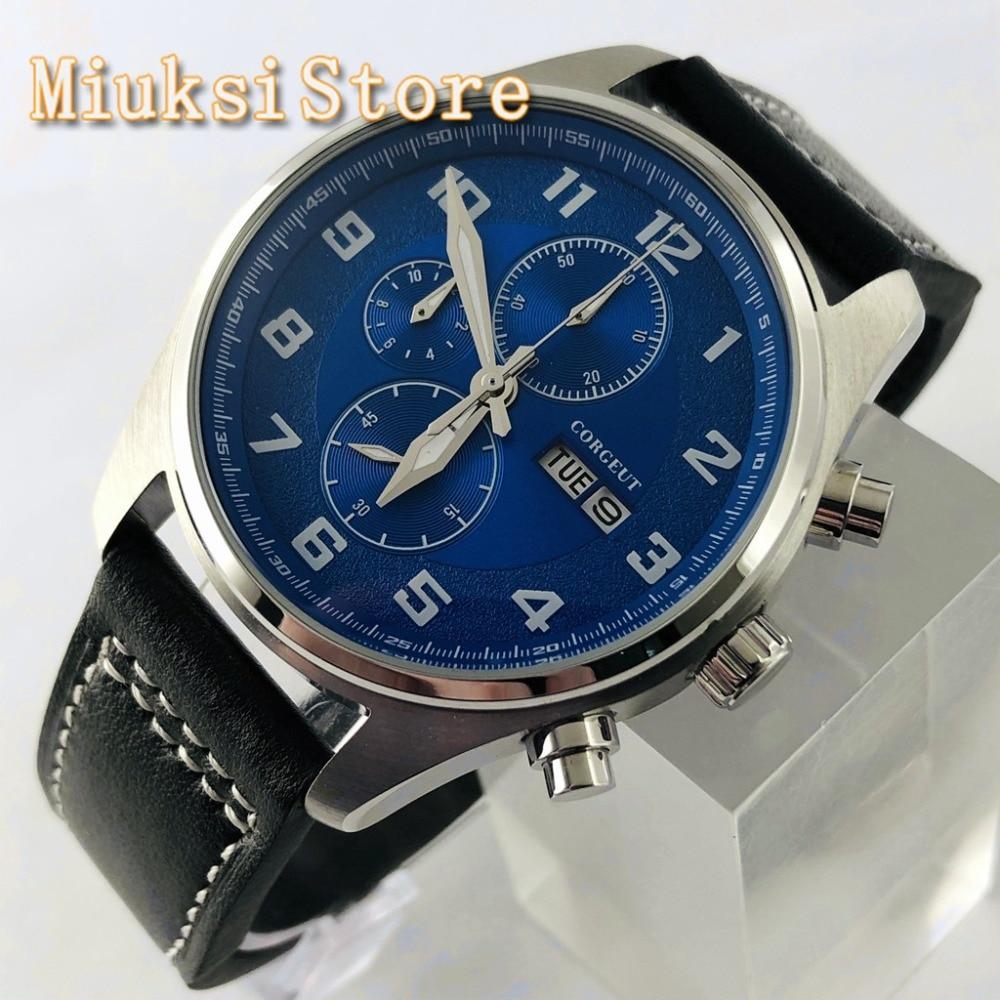 caso prata azul dial data pulseira de