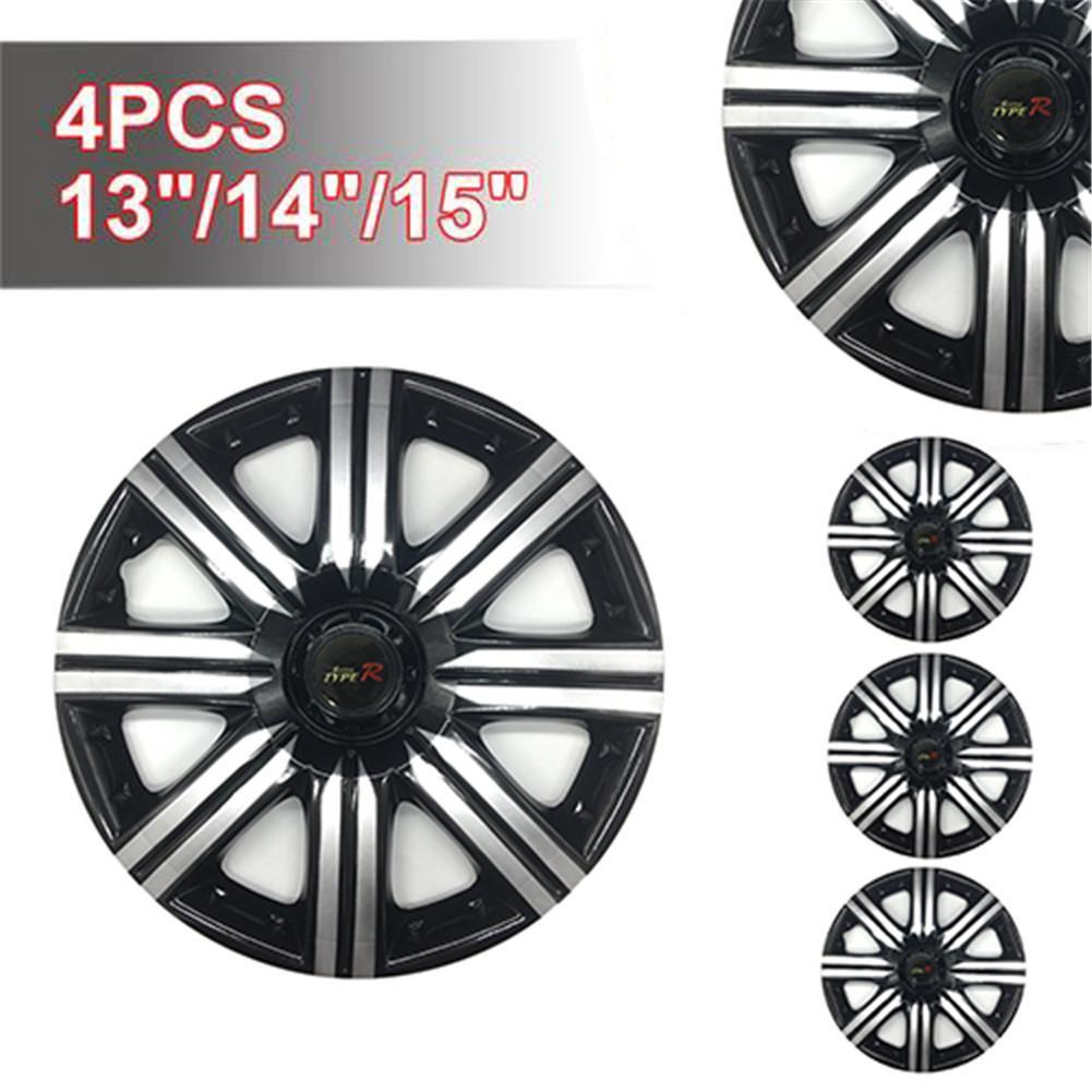 4 pçs capa de roda de carro roda de hubcap capa decorativa capa de cubo de roda de carro 13-Polegada 14-Polegada 15-Polegada hubcap