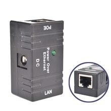 Mini POE الفاصل حاقن محول تيار مستمر الطاقة عبر إيثرنت ملحقات CCTV RJ45 السلبي للكاميرا شبكة LAN مراقبة IP