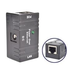 Mini adaptador do injetor do divisor do ponto de entrada dc power over ethernet cctv acessórios rj45 passiva para a câmera ip de vigilância da rede do lan