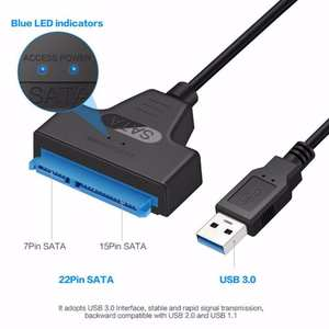 Usb-Adapter Cable Hard-Drive External Ssd Sata-Iii 6-Gbps-Support NEW 22-Pin Usb-3.0