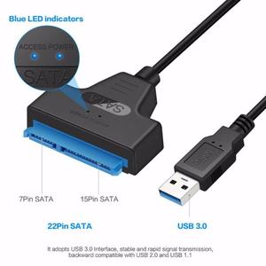 USB 3.0 SATA Cable Sata to USB Adapter Up to 6 Gbps Support 2.5 Inches External SSD HDD Hard Drive 22 Pin Sata III Cable TXTB1(China)