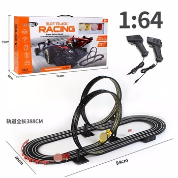 1:64 Toy Car Track Car Electric Remote Control Track Racing 360 Whirling Double Competition Sports Toys