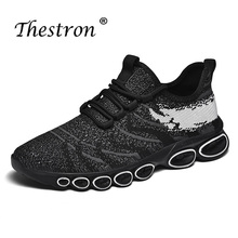 Sport Shoes Men Running Sneakers Breathable Mesh Walking for Comfortable Black Athletic Trainers
