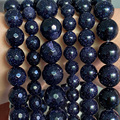 Natural Blue SandStone Beads For Jewelry Making Round Loose Beads Spacer Stone DIY Bracelet Handmade 4/6/8/10/12mm