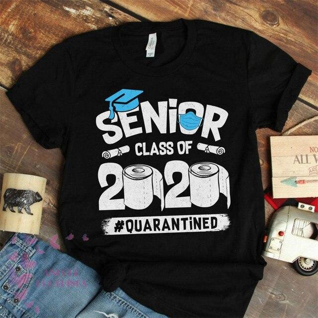 Seniors Class of 2020 Quarantined T Shirt Funny Graduation Gift for Men Women Graduate Tee Tshirt  Men T Shirt