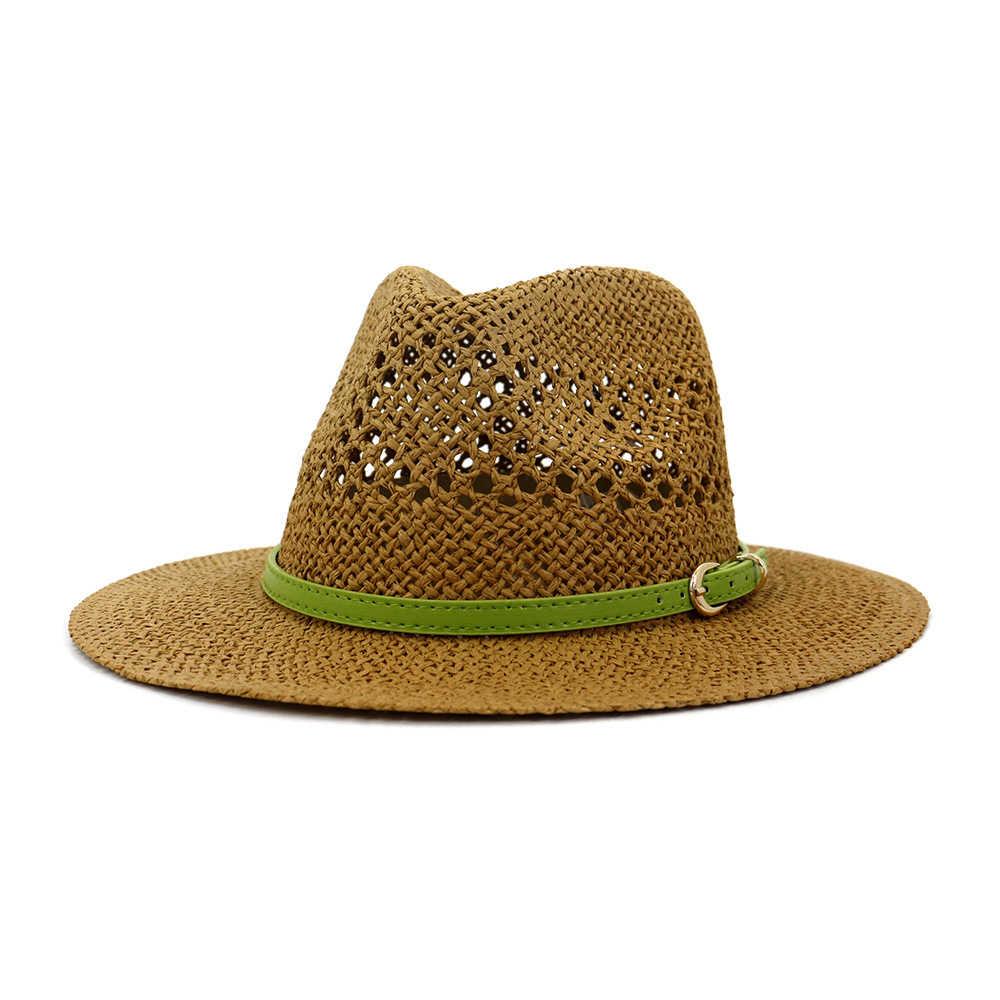 Soleil d/'été femme Chapeau de paille de haute qualité à la Mode Large Bord Respirant Casquettes