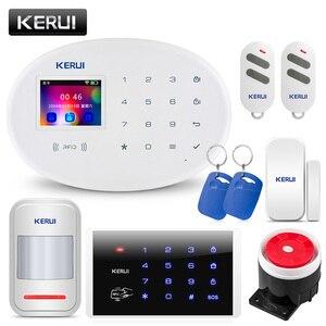 """Image 2 - KERUI système dalarme de sécurité domestique W20, wi fi, GSM, contrôle à distance avec application sans fil, écran 2.4 """", langue commutable, anti cambriolage"""