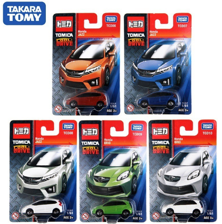 TOMY Dome Card Palm Car Boy Toy Gift Cool Run Series Mini Toy Car Model Christmas Gift